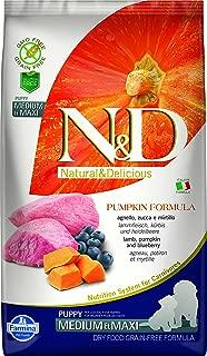 Farmina N&D Dog Dry Puppy Grain Free Pumpkin Medium/Maxi Lamb & Blueberry 5.5 Pounds
