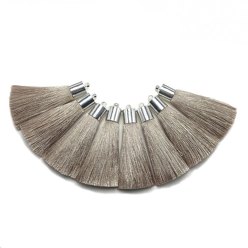 YEGUI L94,Tassel, silk tassel,silver hat tassel for jewelry, clothing production(4pcs/bag) (L9408)