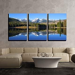 wall26 - Sprague Lake Rocky Mountain - Canvas Art Wall Decor - 16
