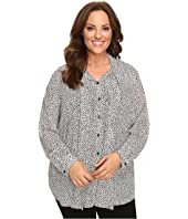 MICHAEL Michael Kors - Plus Size Graphic Scale Button Down Top