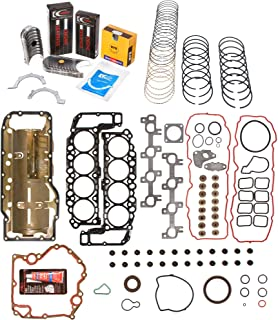 Evergreen Engine Rering Kit FSBRR8-30401000 Fits 04-07 Dodge Durango Dakota Jeep Mitsubishi 4.7 SOHC Full Gasket Set, Standard Size Main Rod Bearings, Standard Size Piston Rings