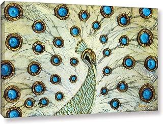 ArtWall Susanna Shaposhnikova Peacock Gallery Wrapped Canvas, 24x36 Inches, Wall Art