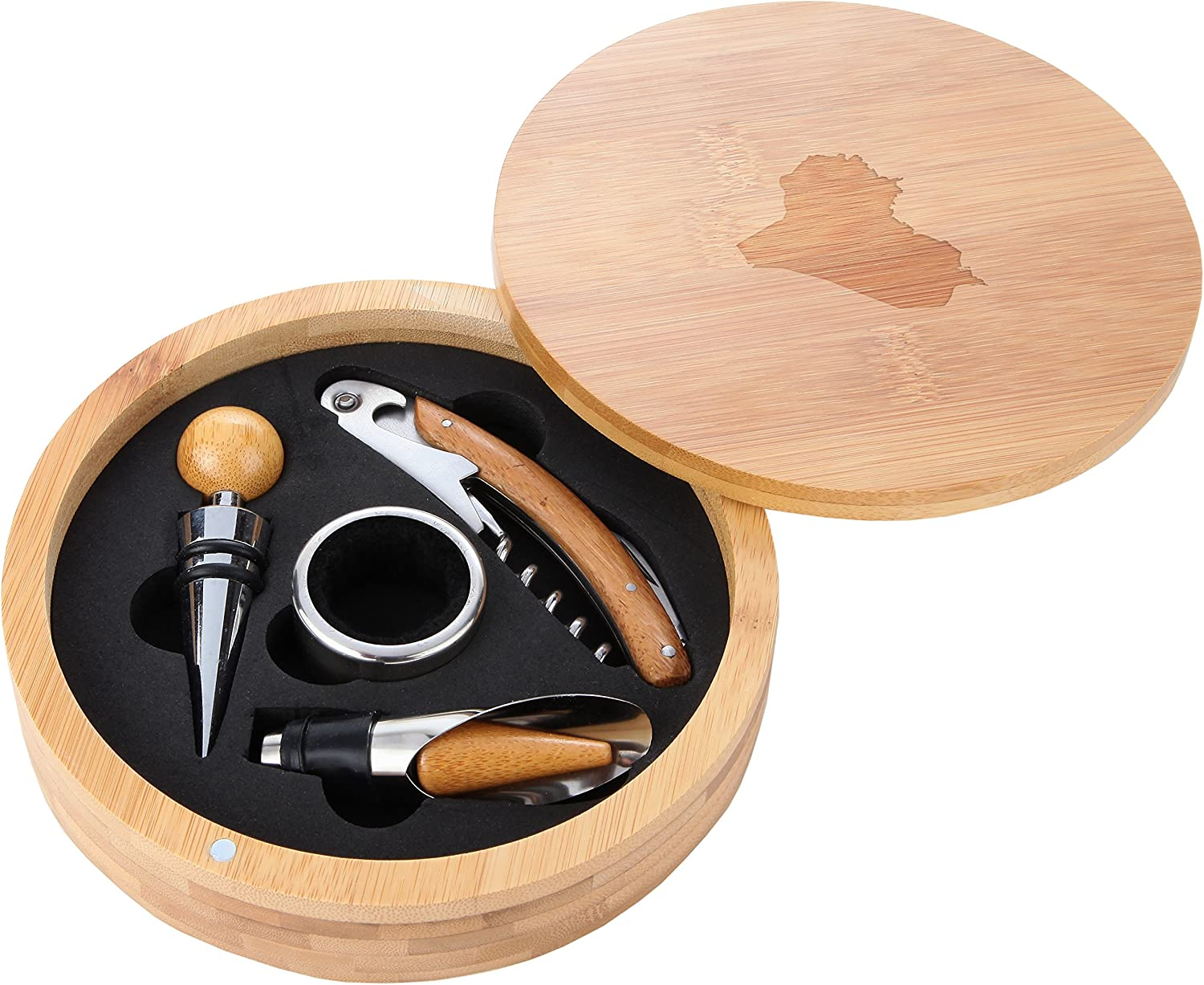 Iraq Wooden Accessories Company Wine Tool Set Ac - Financial sales sale Portable Max 59% OFF