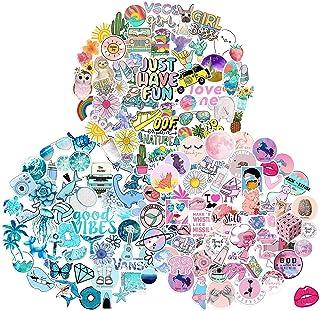 153 pcs Cute Vsco Aesthetic Stickers-Vinyl Aesthetic Cute Waterproof Stickers for Laptops Hydro Flasks Water Bottle Book B...