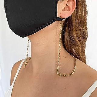 Collar Porta Mascarilla dorado (cadenita)