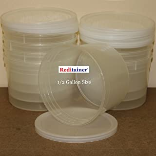 Reditainer Deli Food Storage Containers with Lid, 64-Ounce, 8-Pack