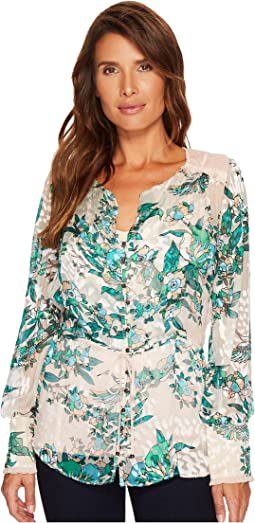 Hale Bob - Soar Above Silk with Rayon Satin Burnout Top