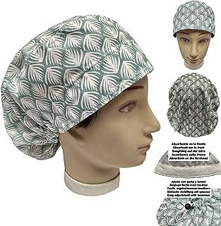 Cappello medico FOGLIE TROPICALI per Capelli Lunghi Chirurgia, infermieristica, veterinaria, dentisti, cucina ecc. Asciuga...