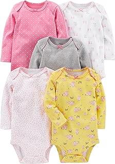 Baby Girls' 5-Pack Long-Sleeve Bodysuit
