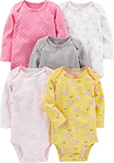 Simple Joys by Carter's Baby Girls' 5-Pack Long-Sleeve...