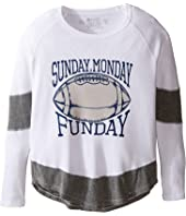 The Original Retro Brand Kids - Sunday Monday Funday Long Sleeve Inset Thermal (Big Kids)