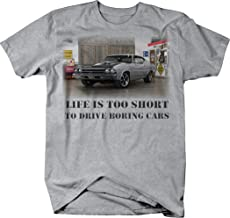 OS Gear Life is Too Short Boring Cars - Chevy Chevelle SS Muscle Car Tshirt