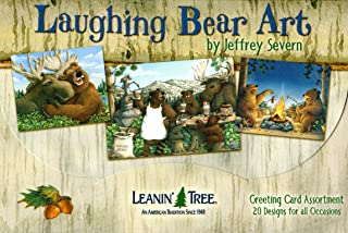 Leanin' Tree Funny Greeting Cards - Laughing Bear Art [AST90760] - 20 Greeting Cards with Full-color Interiors