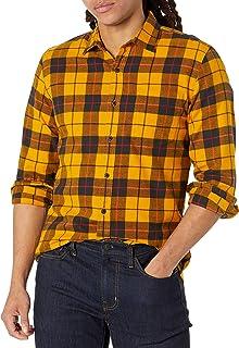 [Amazon Essentials] スリムフィット 長袖 フランネルシャツ メンズ