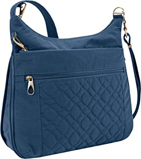 Anti-theft Signature Quilted Expansion Cross Body Bag, Ocean