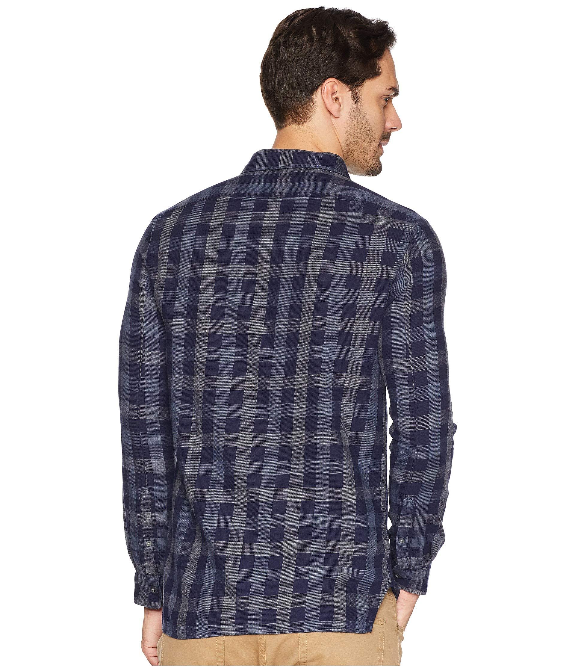 Shirt U Varvatos John s Sleeve Navy a Button Long Front Star EEzqpg