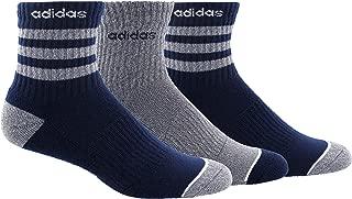 Men's 3-Stripe High Quarter Sock (3-Pair)
