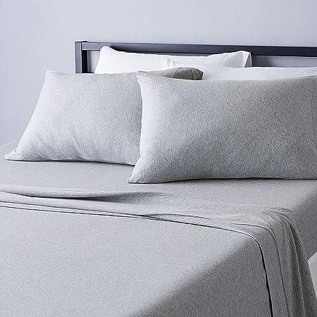 Basics Heather Jersey Sheet Set Twin Extra-Long Chambray