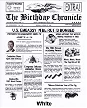 The Birthday Chronicle On The Month/Year You were Born Newspaper 11