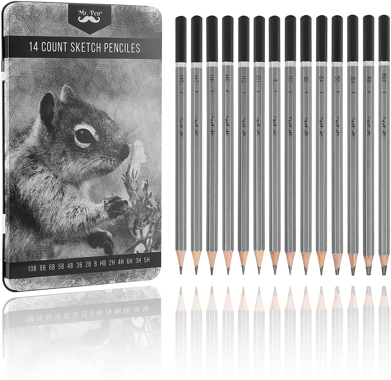 Mr. Washington Mall Pen- Sketch Pencils for 14 excellence A Drawing Pack