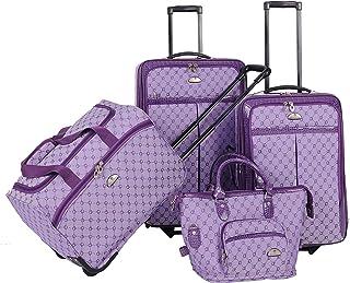 American Flyer Luggage Signature 4 Piece Set, Light Purple, One Size