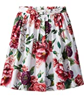 Dolce & Gabbana Kids - Poplin Peonie Skirt (Big Kids)