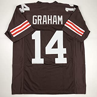Unsigned Otto Graham Cleveland Custom Stitched Brown Football Jersey Size Men`s XL New No Brands/Logos