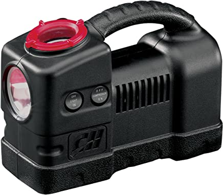 12 Volt Inflator with Light, 120 PSI Portable Compressor for Tire Inflation (Campbell Hausfeld