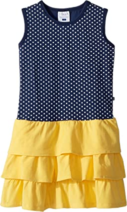 Sweet Summer Navy & Yellow Tank Dress (Toddler/Little Kids/Big Kids)