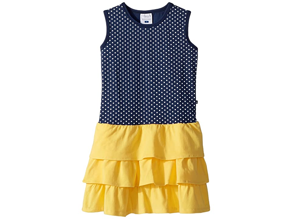 Toobydoo Sweet Summer Navy Yellow Tank Dress (Toddler/Little Kids/Big Kids) (Navy/Yellow) Girl