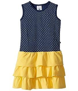 Sweet Summer Navy & Yellow Tank Dress (Toddler/Little Kids/Big Kids)