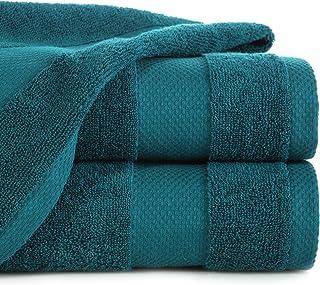 Eurofirany Hand Set Bath Sauna Towel Wash Cloth-Luxury Absorbent 100% Cotton 400g/m2 3 and 6 Pack, turquoise, 50X90 cm/1 P...