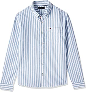 Tommy Hilfiger Boy's Oxford Stripe Long Sleeve Shirt