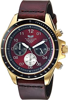 Vestal ZR2 Leather Stainless Steel Japanese-Quartz Watch with Strap, Brown, 20 (Model: ZR243L21.CVBK)