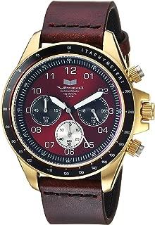 Vestal 'ZR2' Quartz Stainless Steel and Leather Casual Watch, Color:Brown (Model: ZR243L21.CVBK)