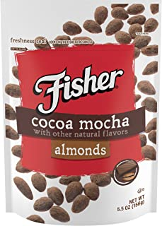 FISHER Snack Cocoa Mocha Almonds, 5.5 oz (Pack of 6)
