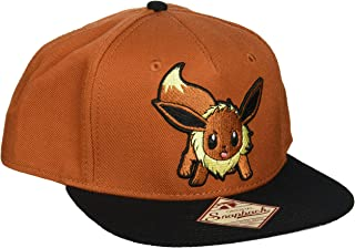 d2020d9497f bioWorld Pokemon Eevee Brown Color Block Snapback Baseball Cap