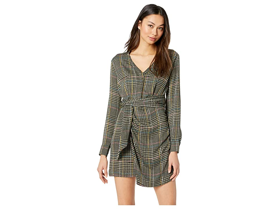 ASTR the Label Yuri Dress (Sage/Multi Plaid) Women