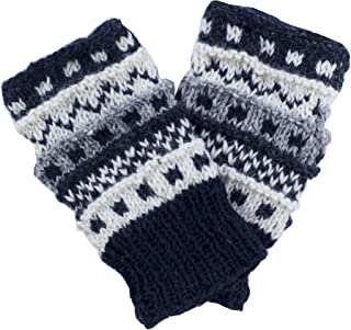 Winter wonder soft fingerless Fleece Lined Hand Knit gloves for typing & driving