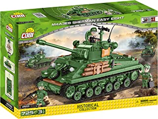 COBI 2533 M4A3E8 Sherman Easy Eight Building Blocks, Grey