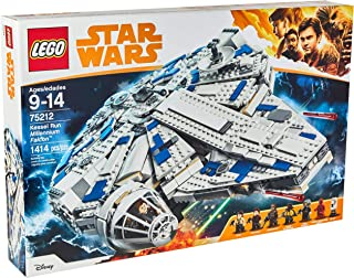 LEGO Star Wars Solo: A Star Wars Story Kessel Run Millennium Falcon 75212 Building Kit and Starship Model Set, Popular Building Toy and Gift for Kids (1414 Piece) (Renewed)