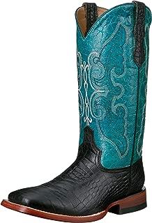 Ferrini Women's Ladies Print Belly Black Square Toe Western Boot
