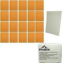 20 Pack ProGrit Sanding Sponges 220 Medium Grit for Between Coats Hand Sander Pads Flexible Softback Wet or Dry Bulk Pack
