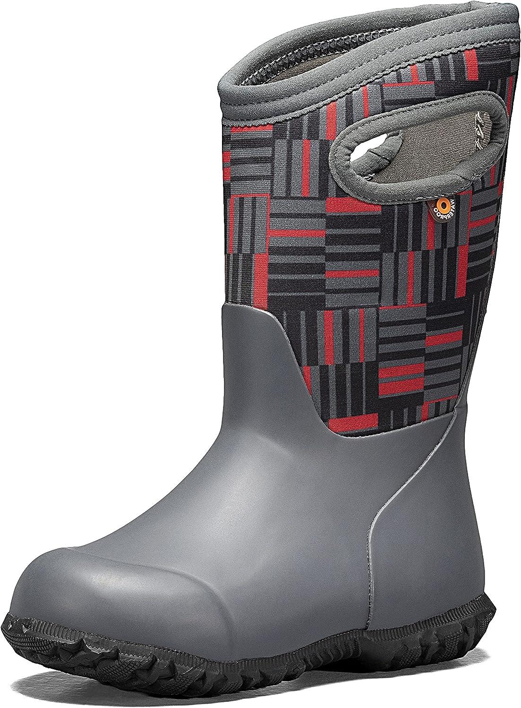 BOGS Unisex-Child York Boys and Girls Waterproof Insulated Rubber and Neoprene Winter Rain Boot