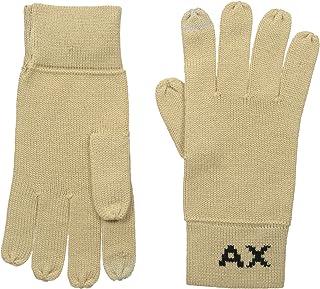 Armani Exchange Men's Knit Logo Gloves