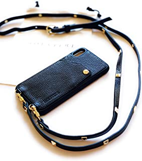 Leather iPhone Case Crossbody - Phone Purse w/Wallet & Strap Black - 6, 6s, 7, 8, PLUS+, X, XS, XR, XS Max - IMPROVED