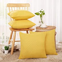Deconovo Blank Throw Pillow Covers Decorative Cushion Case with Hidden Zipper for Home Faux Linen Square for Car Couch Cus...