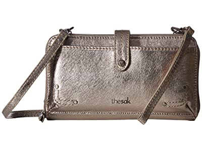The Sak Iris Large Smartphone Crossbody (Pyrite Metalic) Cross Body Handbags