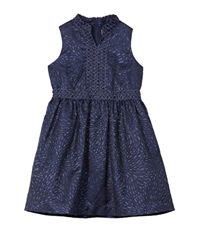 Lilly Pulitzer Kids Mini Franci Dress (Toddler/Little Kids/Big Kids) (True Navy Lagoon Jacquard) Girl