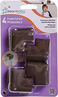 Dreambaby Foam Corner Protectors, Brown, 4 Pack